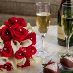 Flowers, Champagne, and Chocolate Covered Strawberries at Rosen Centre