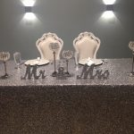 Mr and Mrs Sign on table in silver